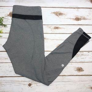 Lululemon Inspire Tight II Grey Mesh Leggings
